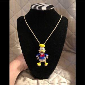 Donald Duck Pendant Necklace